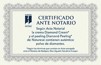 crema con polvo de diamante auténtico